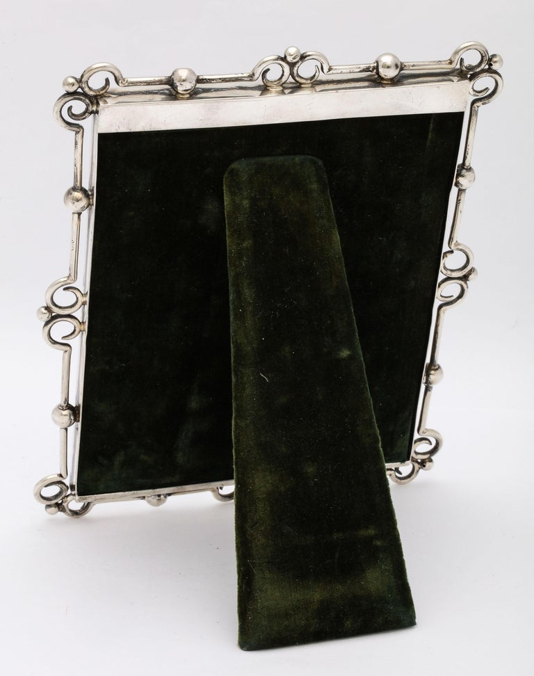 Unusual Arts & Crafts Sterling Silver Picture Frame, by E. Mander and Sons For Sale 2