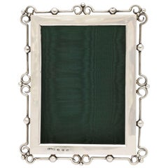Unusual Arts & Crafts Sterling Silver Picture Frame, by E. Mander and Sons