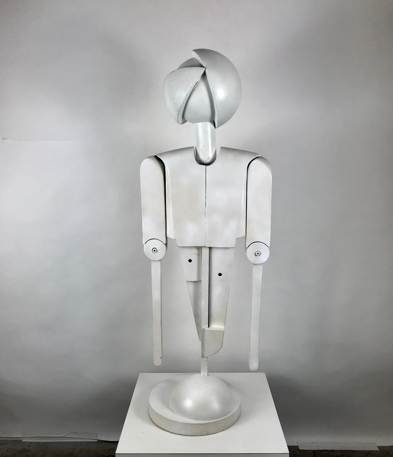 Unusual Bauhaus Style Cubist Articulated Mannequin after Oskar Schlemmer For Sale 5
