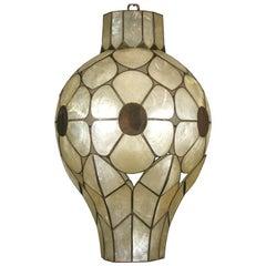 Unusual Capiz Shell Pendant