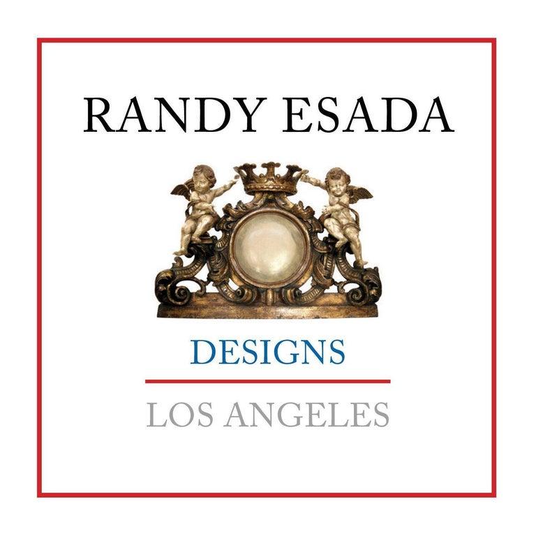 North American Unusual Carved Italian Giltwood Table Lamp by Randy Esada For Sale