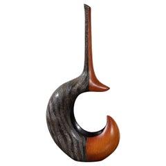 """Unusual """"chimera"""" Mixed Wood Finish Vase"""
