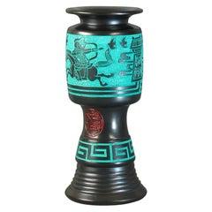 Unusual Chinese Longshan Black Pottery Vase