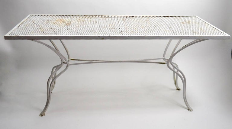 Mid-Century Modern Unusual Console Table Attributed to Salterini For Sale