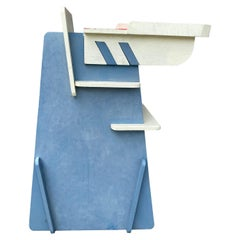 Unusual Constructivist Childs High Chair,, Hand Crafted,, Bench Made,