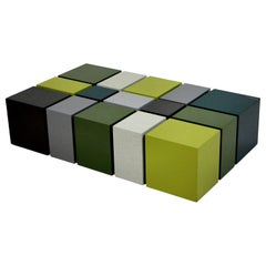 Unusual Cubist Occasional Table in Great Colors