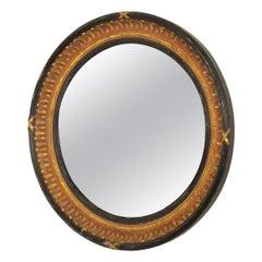 Unusual English Round Convex Mirror
