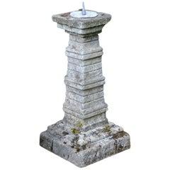 Unusual English Stone Sundial