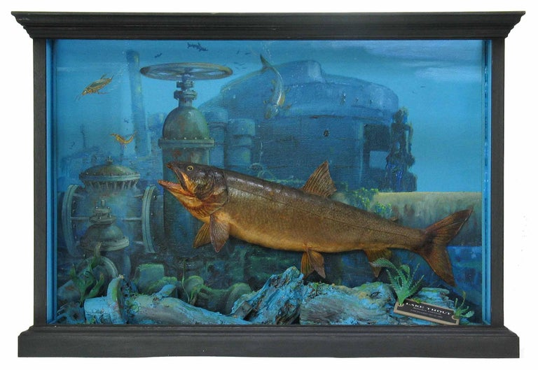 Unusual Fish Taxidermy Diorama Set in Decaying Underwater Industrial Environment For Sale 3