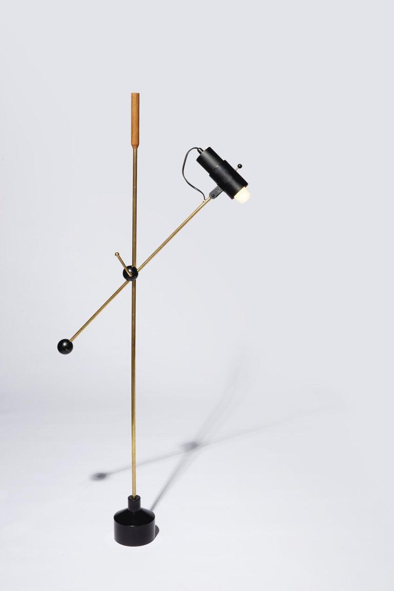 Unusual Floor Lamp by Tapio Wirkkala In Good Condition For Sale In Brooklyn/Toronto, Ontario