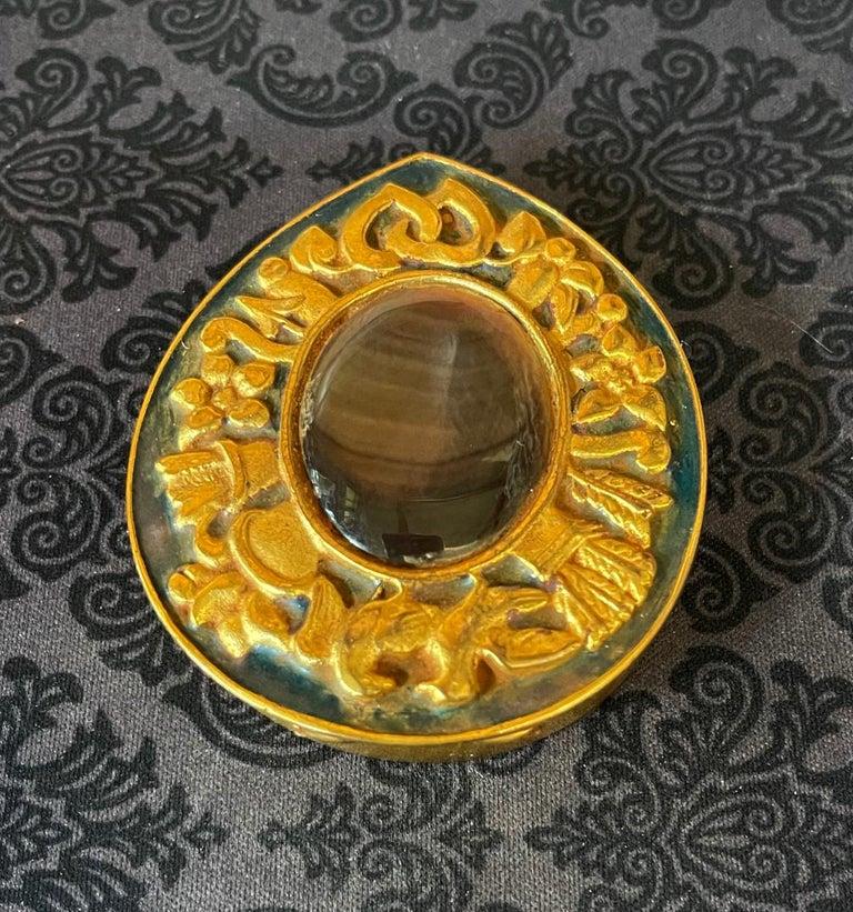 Mid-Century Modern Unusual French Gilt Bronze Box Line Vautrin For Sale