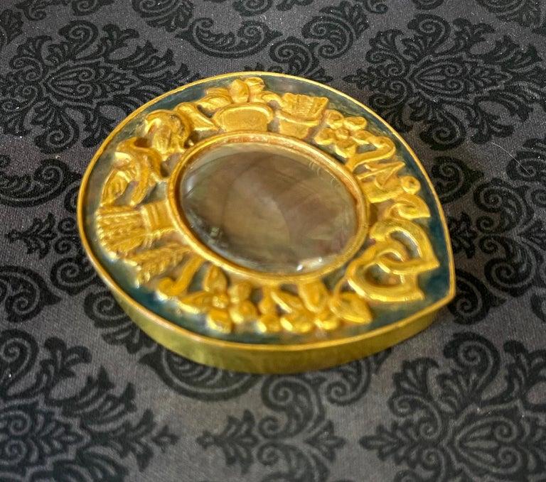 Unusual French Gilt Bronze Box Line Vautrin In Good Condition For Sale In Atlanta, GA