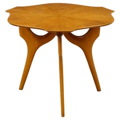 Unusual Fruit Wood End Table, Attributed to Ico Parisi