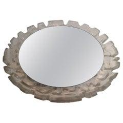 Unusual Illuminating Molded Plastic Mirror, circa 1970