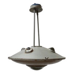 Unusual Industrial Flying Saucer Pendant Lights '3'