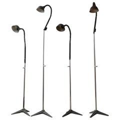 Unusual Industrial French Adjustable Floor Lamps