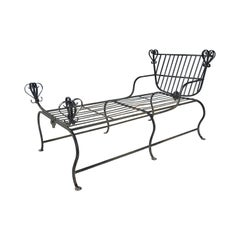 Unusual Iron Chaise Lounge, Custom Made, Savonarola Style, Indoor /Outdoor