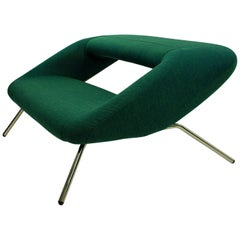 Unusual Italian Modernist Sofa in Emerald