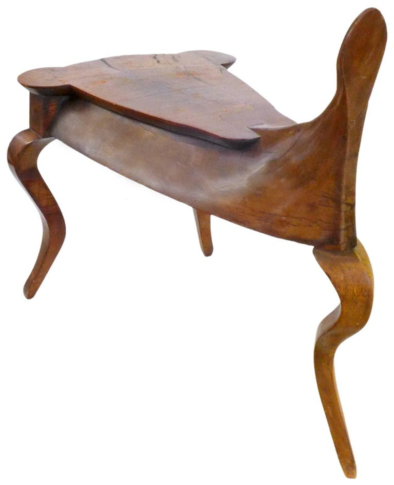 A beautiful and unusual, hand-carved wood, Italian