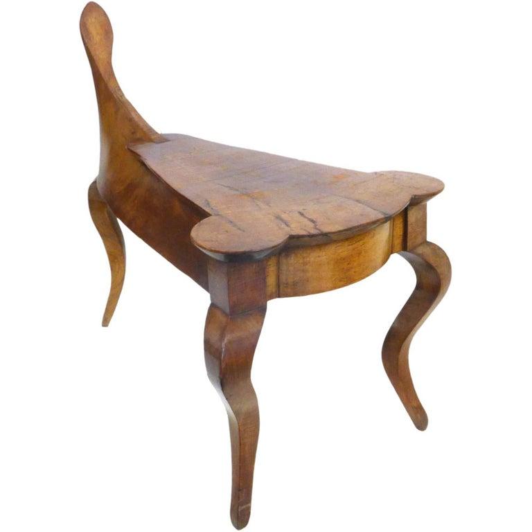 "Unusual Italian ""Saddle"" Side Table For Sale"