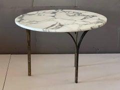 Unusual Italian Side Table WIth Bronze Legs
