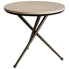 Unusual Italian Tripod Table with a Marble Top