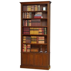 Unusual Late Victorian Open Bookcase in Walnut