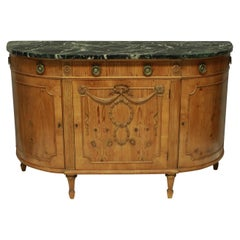 Unusual Louis XVI Style Pine Demilune Commode