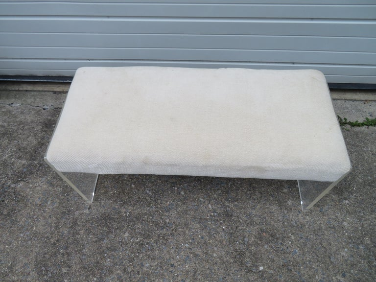 Unusual Lucite Piano Bench Mid-Century Modern For Sale 4