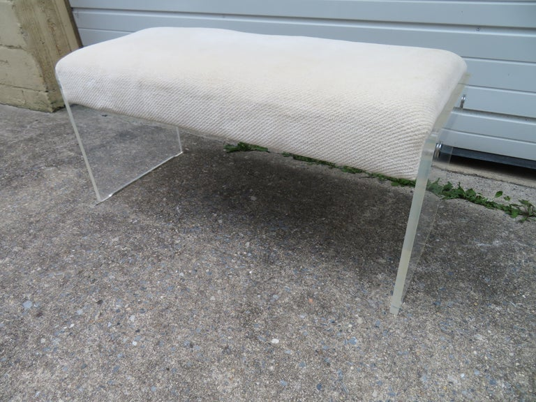 Unusual Lucite Piano Bench Mid-Century Modern For Sale 6