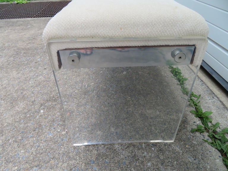 American Unusual Lucite Piano Bench Mid-Century Modern For Sale