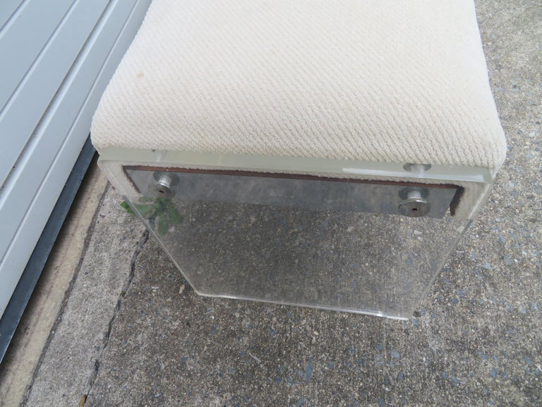 Unusual Lucite Piano Bench Mid-Century Modern For Sale 1