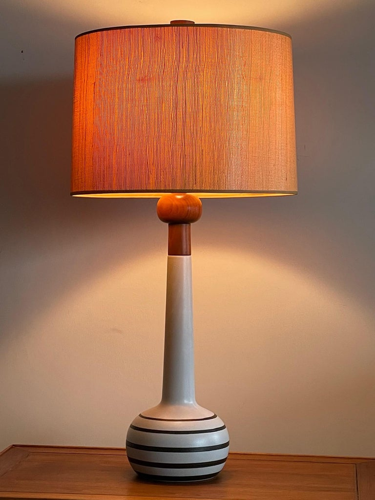 Unusual Martz Lamp with Original Shade In Good Condition In St.Petersburg, FL