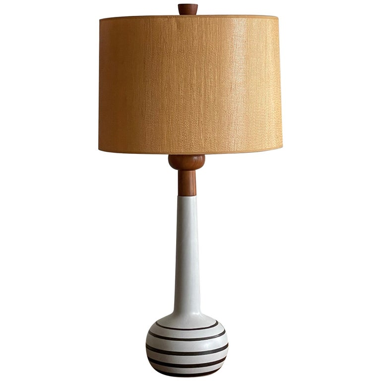 Unusual Martz Lamp with Original Shade