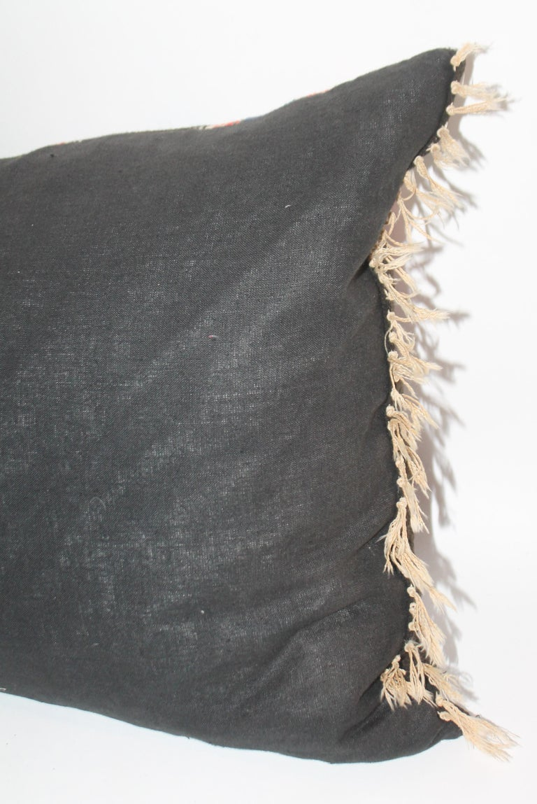 Country Unusual Mexican Serape Pillow For Sale