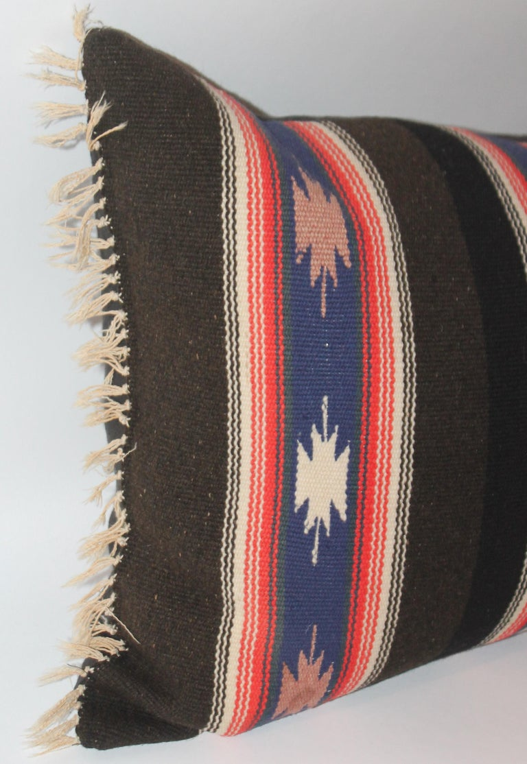 Unusual Mexican Serape Pillow In Good Condition For Sale In Los Angeles, CA