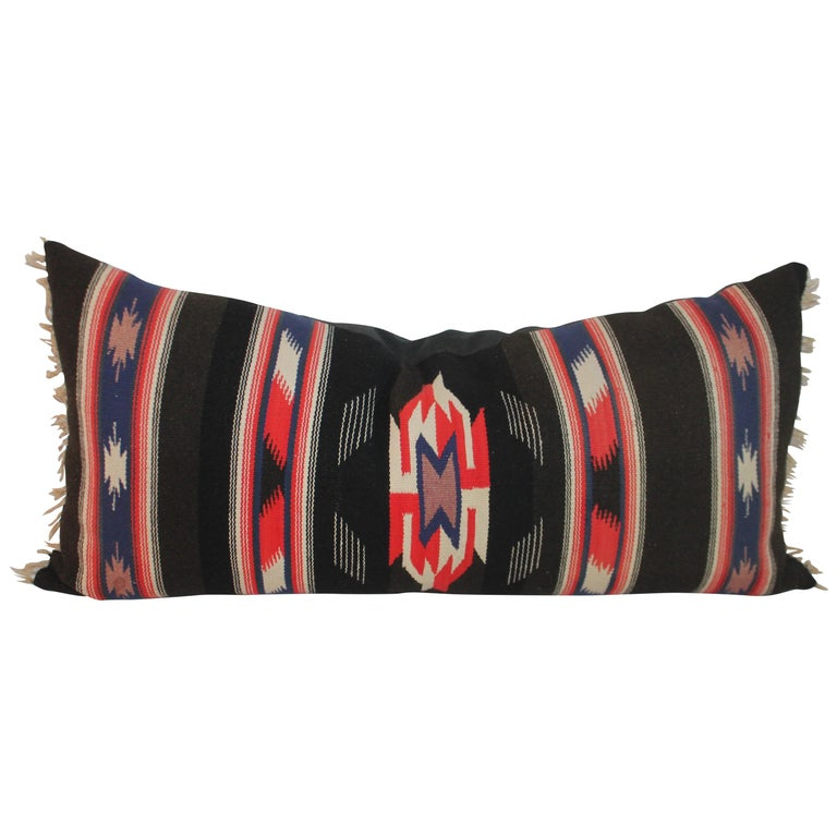 Unusual Mexican Serape Pillow For Sale