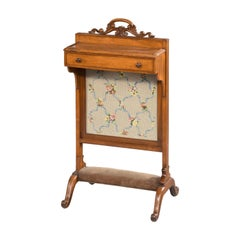 Unusual Mid-19th Century Mahogany Framed Fire Screen