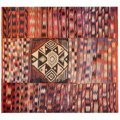 Ungewöhnlicher Kirmanshah Kelim Teppich aus der Mitte des 20. Jahrhunderts