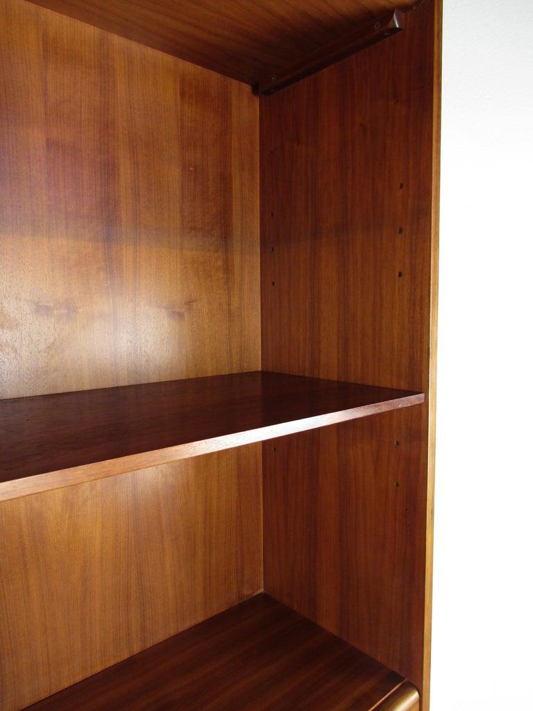 Unusual Mid-Century Modern Drexel Two-Piece Hutch For Sale 8