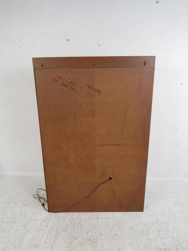 Unusual Mid-Century Modern Drexel Two-Piece Hutch For Sale 4