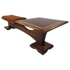 Unusual Mid-Century Modern Witco Style Bench and Table