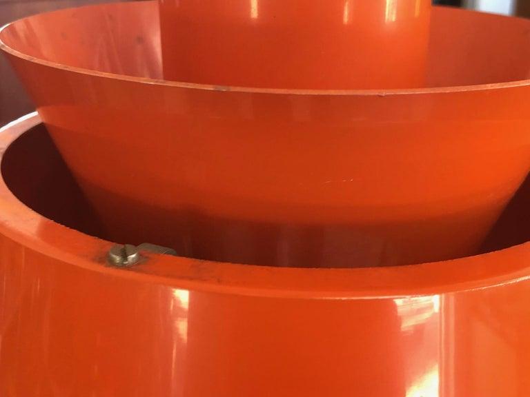 Mid-Century Modern Unusual Mid Century Orange Pendant P254 by Jørn Utzon for Nordisk Solar Co For Sale