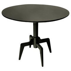 Unusual Midcentury Ebonized Side Table