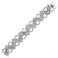 Unusual Midcentury Geometric Diamond Bracelet