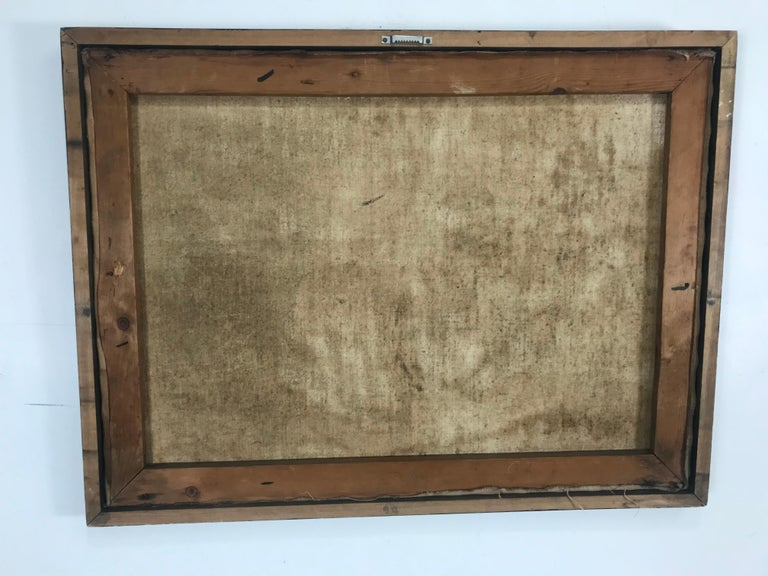 Unusual Modernist Oil on Canvas Surrealist, Signed Oliver Smith, circa 1951 For Sale 6
