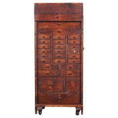 Unusual Multi-Drawer Clock Makers Chest