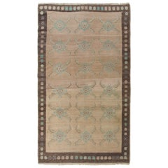 4.4x7.6 Ft Unusual One-of-a-Kind Hand-Knotted Tulu Rug from Karapinar, 100% Wool
