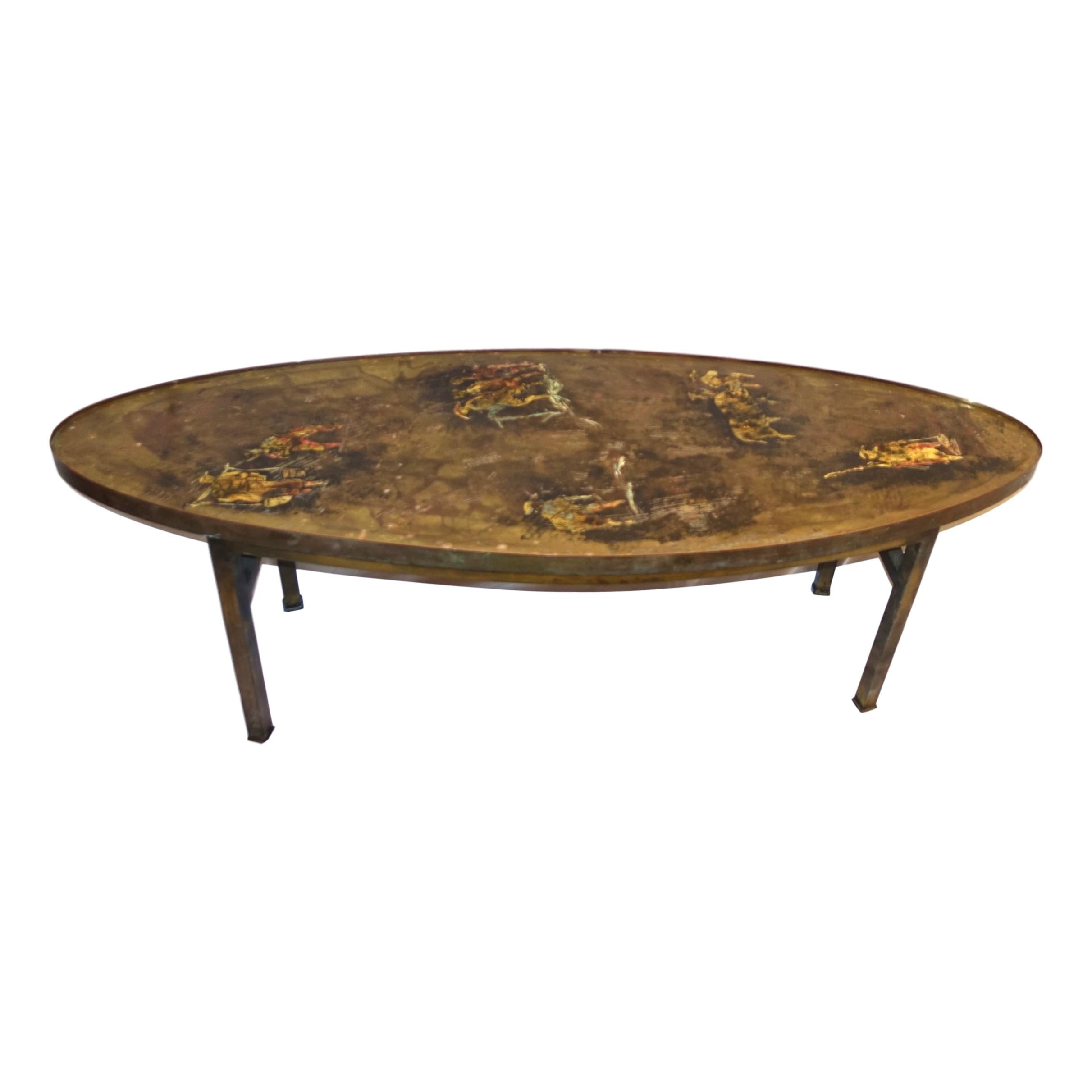 Unusual Oval Laverne Coffee Table