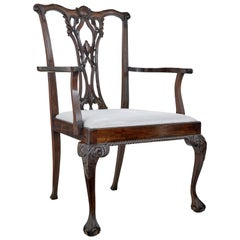 Unusual Oversized Chippendale Style Mahogany Dining Chair for Shop Display